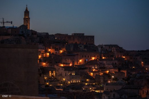 Matera's Sassi at night