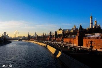 Petite vue du Kremlin depuis la Moskva River.