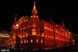 la Place Rouge la nuit, c'est beau aussi.