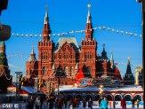 Une petite patinoire improvisée sur la place rouge, attention les russes maîtrisent plutot bien !